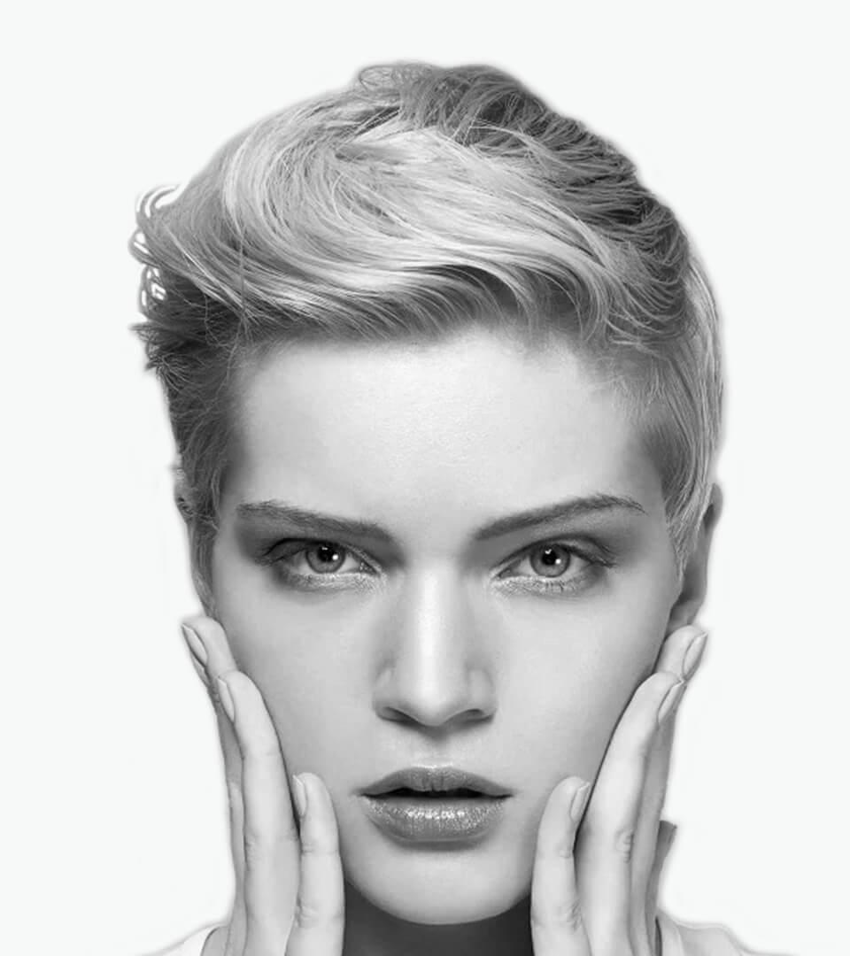 model mit hairstyle der basil friseurakademie