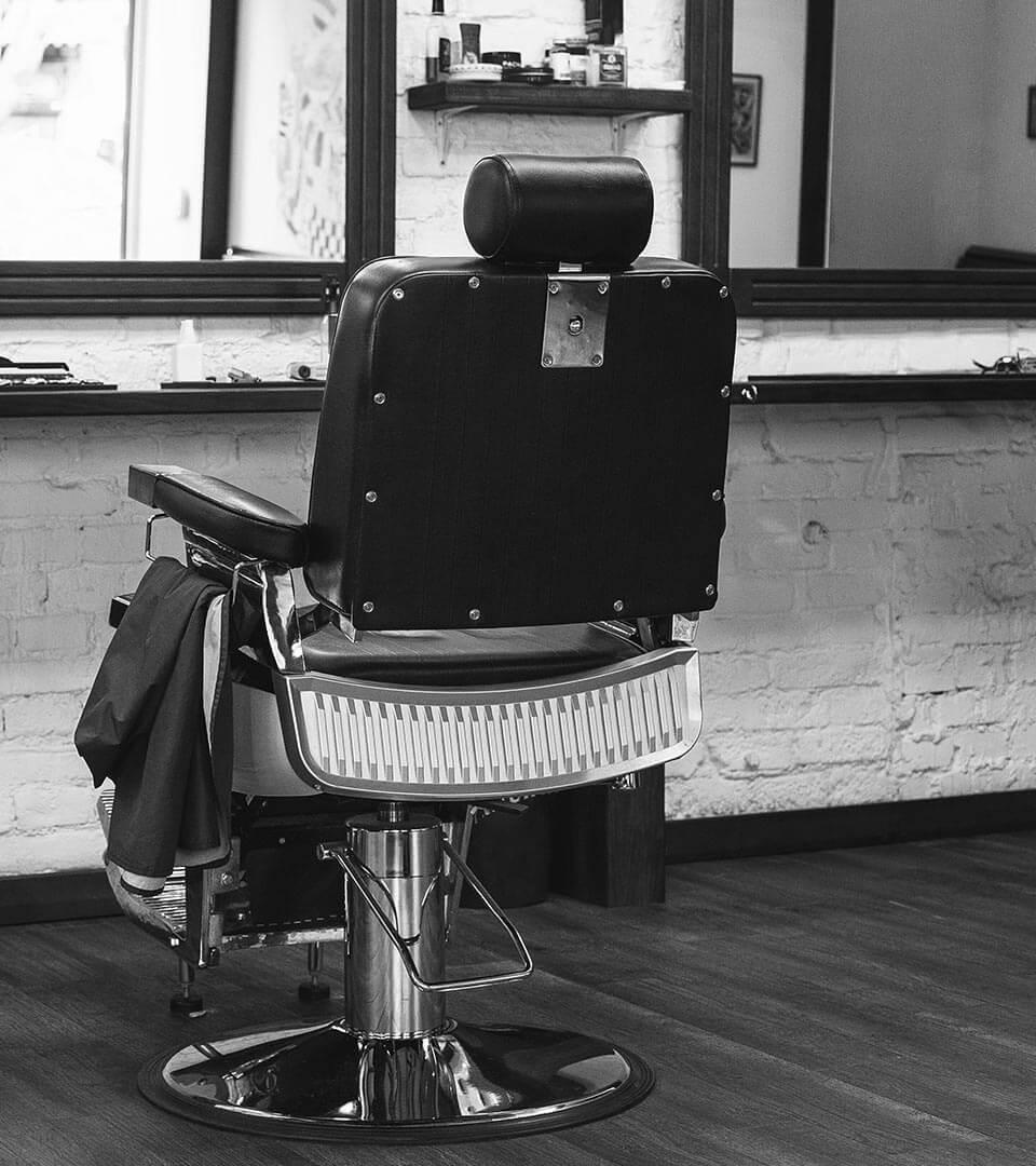 vintage friseur stuhl bei der basil friseurakademie